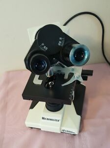 Fisher Scientific Micromaster Microscope Cat 12 561 4b Needs A Bulb B12