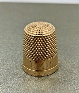 Antique 10k Yellow Gold Sewing Thimble By Waite Thresher Co 3 9g