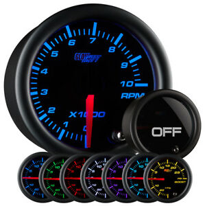 Used Glowshift Tinted 7 Color 2 Inch Tachometer Rpm Gauge
