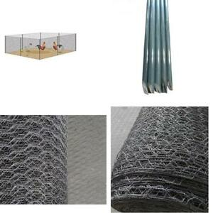 Green Mesh Galvanized Fence Wire Poultry Netting For Flower Plants Support