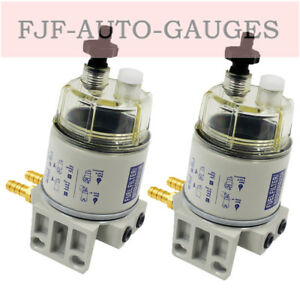 2pcs Filter Water Separator Filter Element Replacement Fit For Racor R12t 120at
