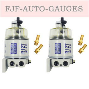 2set Diesel Fuel Filter Water Separator For R12t Marine Spin on Houing 120at