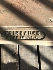 Vintage Fairbanks Floor Scale