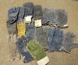 Lot Of 17 Mixed Structural Sei Leather Fire Gloves Nfpa Firefighter