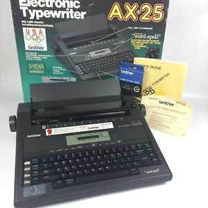Brother Ax 25 Electronic Typewriter Daisy Wheel Correctable Working Box Manual