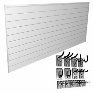 Hook Kit Bundle Wall Panel White Storage Garage Slat Home Organize Assembled New