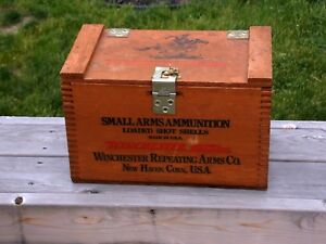 Winchester Small Arms Wooden Ammunition Box Super X Stayness 500