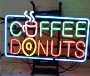 New Coffee Donuts Beer Neon Light Sign 20 x16
