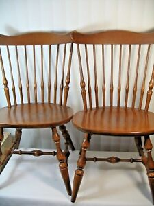 2 X Ethan Allen Solid Maple Nutmeg 10 6102 Chairs Pickup Only