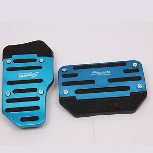 Automatic Car Shiny Blue Sport Non Slip Pedals Gas Brake Cover Set Universal Fit