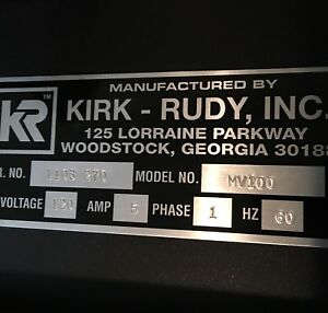 Kirk Rudy Plc Vision System