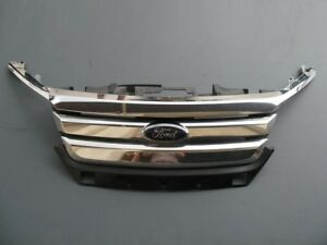 2010 2011 2012 Ford Fusion Front Bumper Cover Chrome Grille Assembly 10 11 12 2