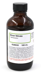Silver Nitrate Solution 1m 100ml The Curated Chemical Collection