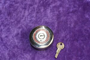 Unknown Locking Gas Cap Automotive Vintage Old Original With Key Gm Ford Chevy