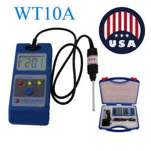 Wt10a 0 1mt 2000mt Lcd Tesla Meter Gaussmeter Surface Magnetic Field Tester Ns