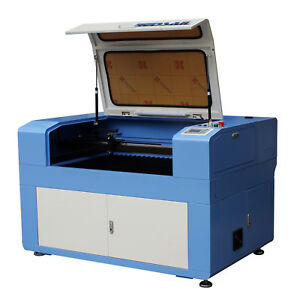 80w Motorized Laser Cutting Engraving Engraver 900 600mm With Water Chiller Ce