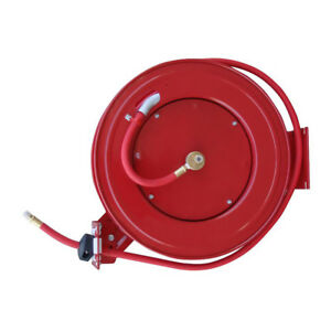 Black Bull 50 Foot Retractable Air Hose Reel With Auto Rewind
