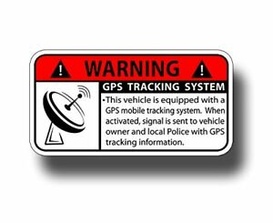 Gps Tracking Anti Theft Security System Alarm Caution Warning Decal Sticker