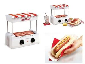 Hot Dogs Electric Cooker Warmer Grill Roller Machine Rolling Sausage Bun Hot Dog