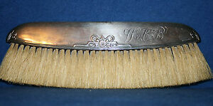 Very Rare Foster And Bailey Sterling Silver Clothes Brush