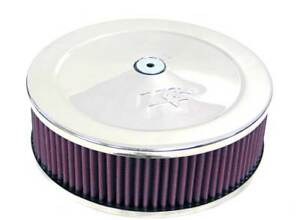 K N Standard 9in Red Custom Air Cleaner Assembly 60 1090
