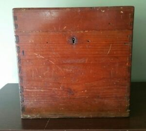 Antique vintage Solid Wood File Cabinet Table Top Filing Cabinet