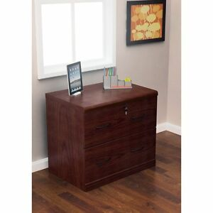 Lateral File Cabinet 2drawer Organizer Cabinets Office Wood Lock Storage Secure