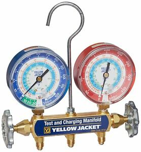 Yellow Jacket 42005 Series 41 Manifold W 31 8 Gauges r22 r134a 404a we Export