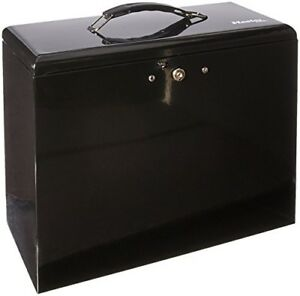 Filing Box With Lock Document Storage Containers Steel Security Locking Office