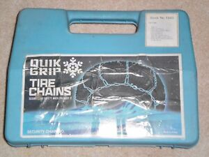 New Security Chain Tire Chains Quick Grip 1840 V Bar Chains