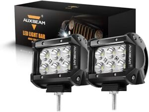 Auxbeam 2pcs set 4 Inch 18w Spot Beam Off Road Led Work Light Bar Suv Atv