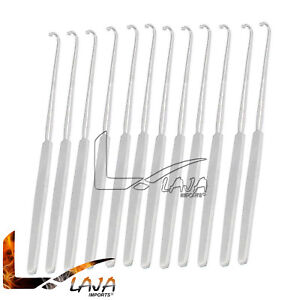 12 Spay Snook Hook Veterinary Surgical Instruments Stainless Steel New
