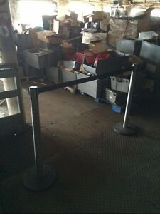 Stanchions Crowd Control Posts Lot 2 Used Store Fixtures Customer Service Line
