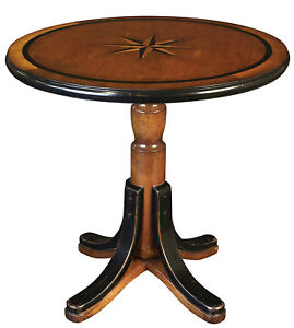 Nautical Mariner Star Table 21 75 Round Cocktail Wood Furniture Compass Rose