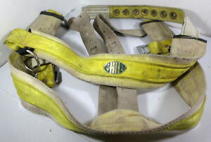 Miller 16n Size Medium Tree Pruning Harness Belt With 3 inch Back Pad Yellow