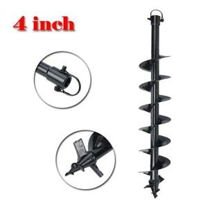 4 Earth Auger Bit Drill Post Hole Digger Dig 3 4 Shaft Fence Soil Tool Kit