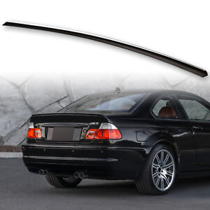Fyralip Painted Trunk Lip Spoiler Wing Jet Black 668 For Bmw E46 Coupe M3