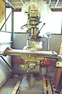Bridgeport Series 1 2 Hp Milling Machine Mitutoyo Dro Power Feed 9 X 42 Good