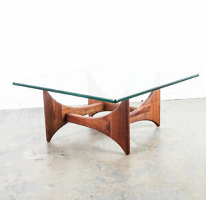 Mid Century Modern Cocktail Table Coffee Adrian Pearsall Square Vintage Danish