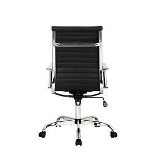 Office Chair High Back Padded Executive Conference Adjustable Swivel Chair Home