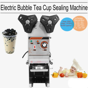 Semi Automatic Electric Bubble Tea 300 500 Cups hr Cup Sealer Sealing Machine