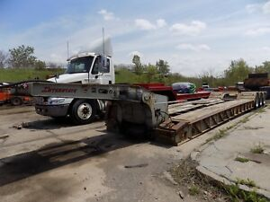 1999 Interstate 55 ton Lowboy Trailer Tri Axle Air Ride