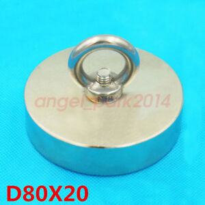 1pcs N50 D80mm X 20mm Large Disc Strong Rare Earth Magnets Neodymium pull Ring