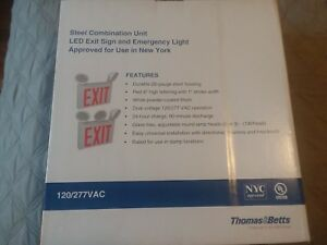 Thomas betts Led Nyc Approved Exit emergency Combo 2 3 Heads