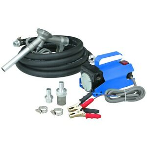 New Portable Battery Powered 12 Volt Dc Diesel Fuel Transfer Pump 10 Gpm
