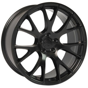 22x10 Dodge Ram 1500 Hellcat Replica Rims 5x139 7 Satin Black New X4 9506585