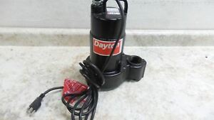 Dayton 4hu69 1 2 Hp 3450 Rpm 120vac 30 Ft Max Head Submersible Sump Pump