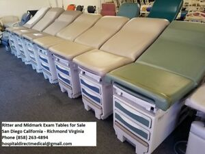 Ritter 204 Exam Table s Examination Room Bed Refurbished