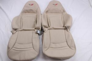 Custom Made 1997 2004 C5 Corvette Real Leather Seat Covers For Sport Seats Oak