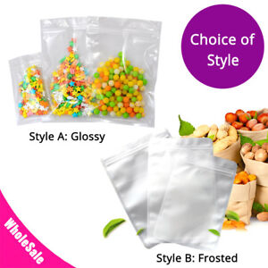 Assorted Sizes Glossy Frosted Clear Plastic Mylar Flat Zip Lock Bag Sm06